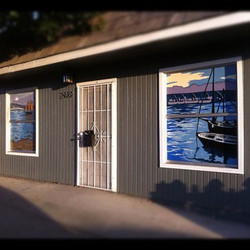 window painting the boat house by Bobbi Koller aka Bobbi Backwards.jpg
