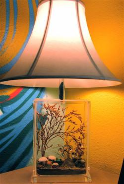 miniature woodland creatures lamp