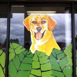 COMPANION PET CLINIC WINDOW PAINTING 1 BY BOBBI BACKWARDS AKA BOBBI KOLLER - JULY2012.jpg