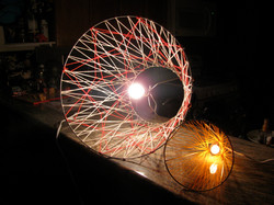 recycled string art lamps