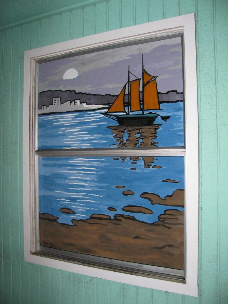 window painting @ boathouse
