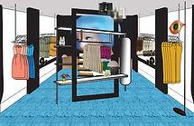 3d rendering store design