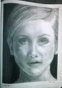 twiggy portrait drawing