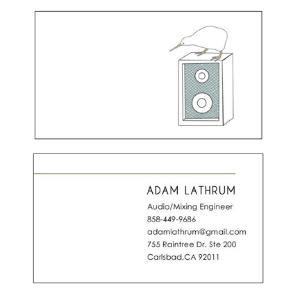 Adam Lathrum - business card