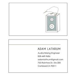 Adam Lathrum - business card