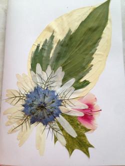 pressed flowerart