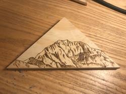 katahdin mountain - woodburning