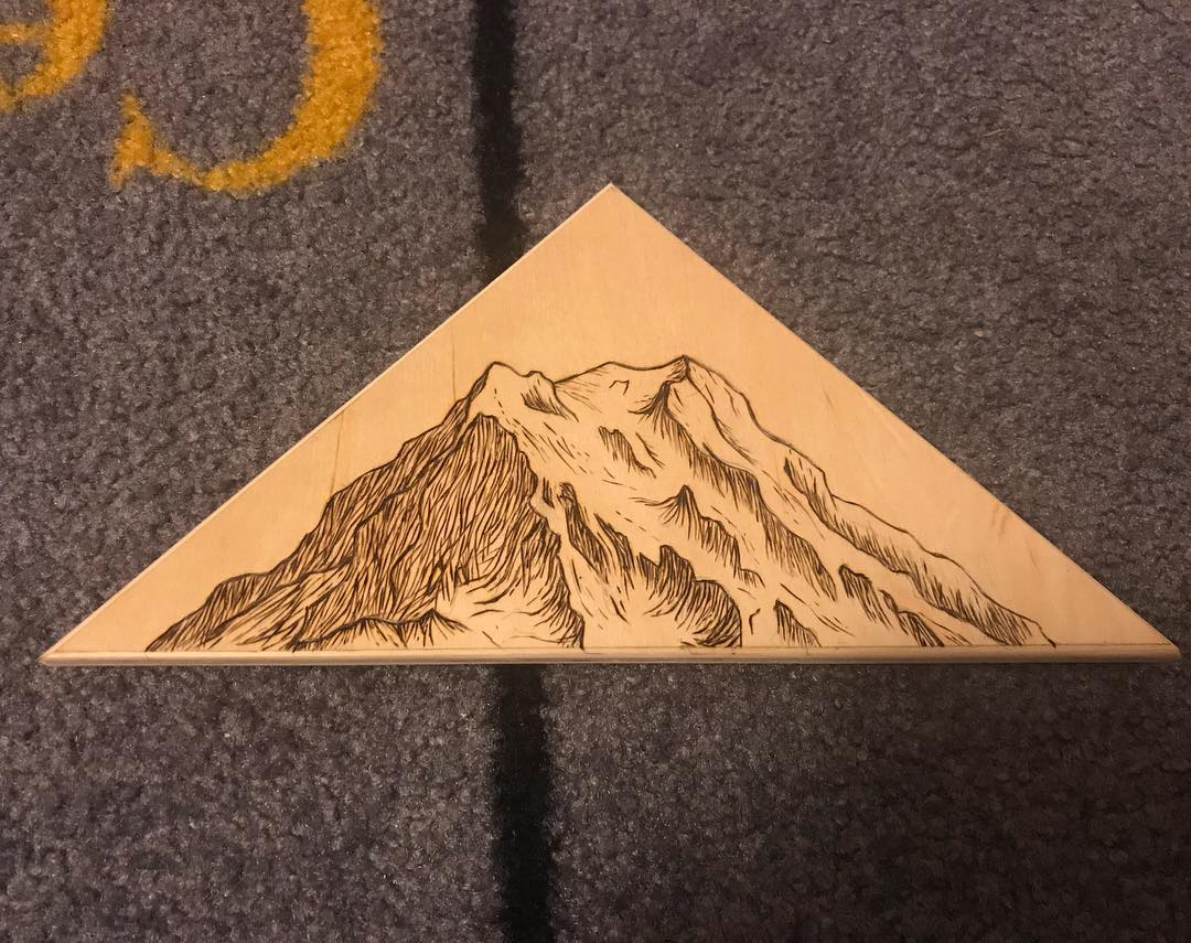 Mt. Rainer Woodburning