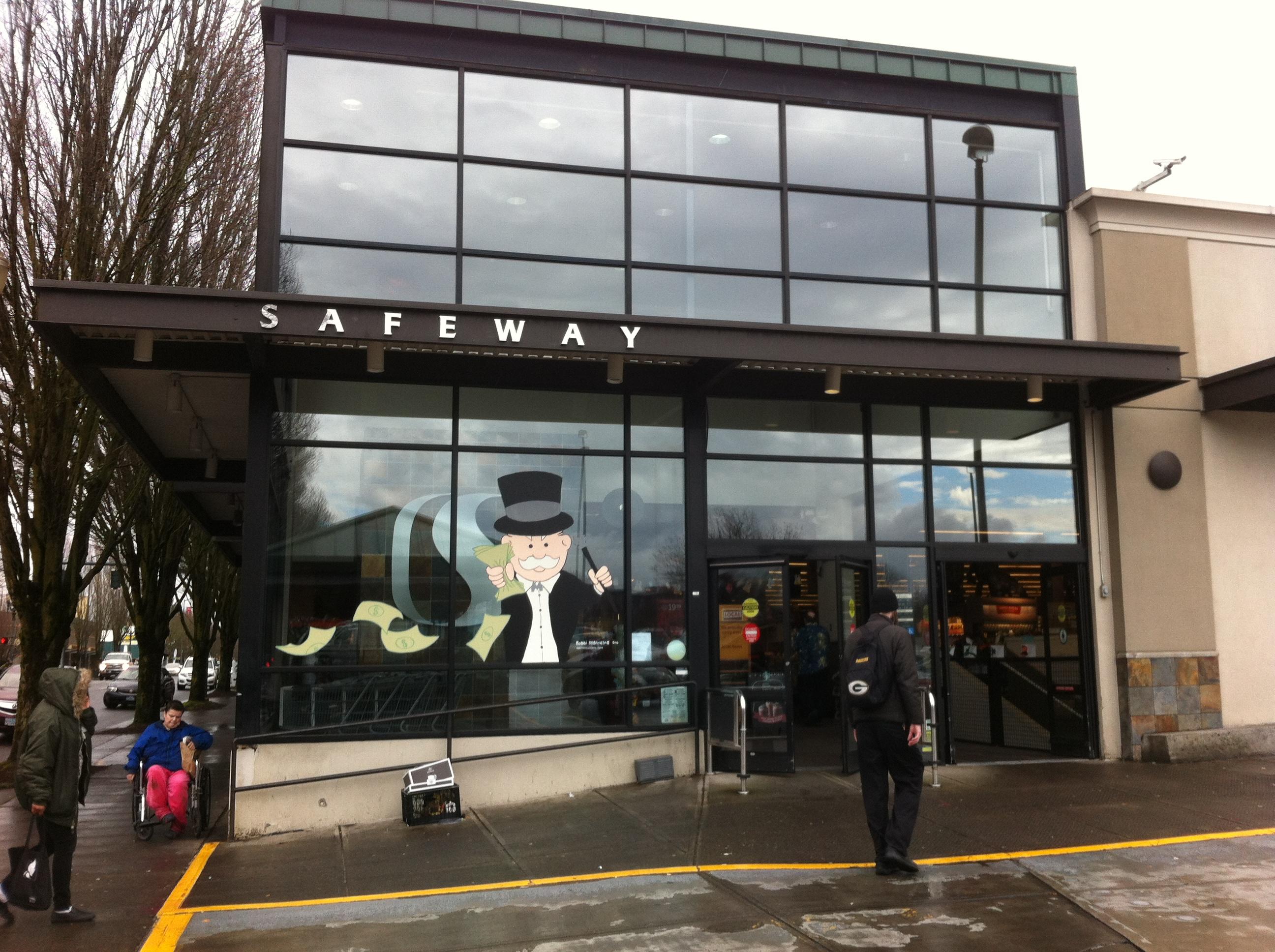 Safeway Monopoly Promo Window