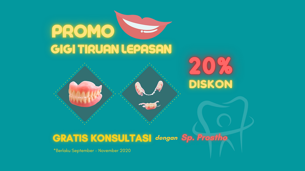 Promo Gigi  Tiruan Lepasan