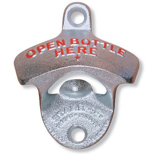 'Open Bottle Here' Bar Bottle Opener Wall Mount