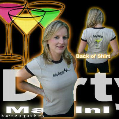 Dirty Martini Bar Cocktail Drink Shirt with Recipe