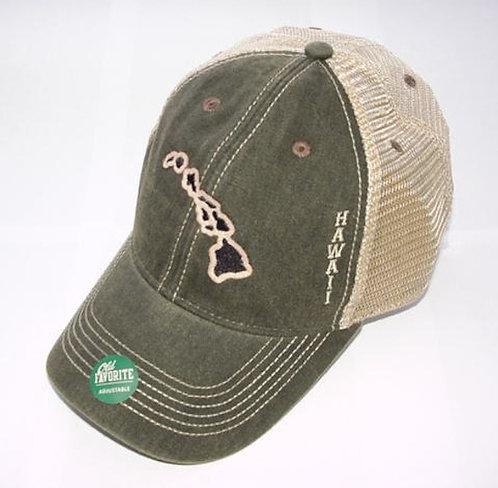 Hawaiian Islands Premium Baseball Hat Trucker Cap