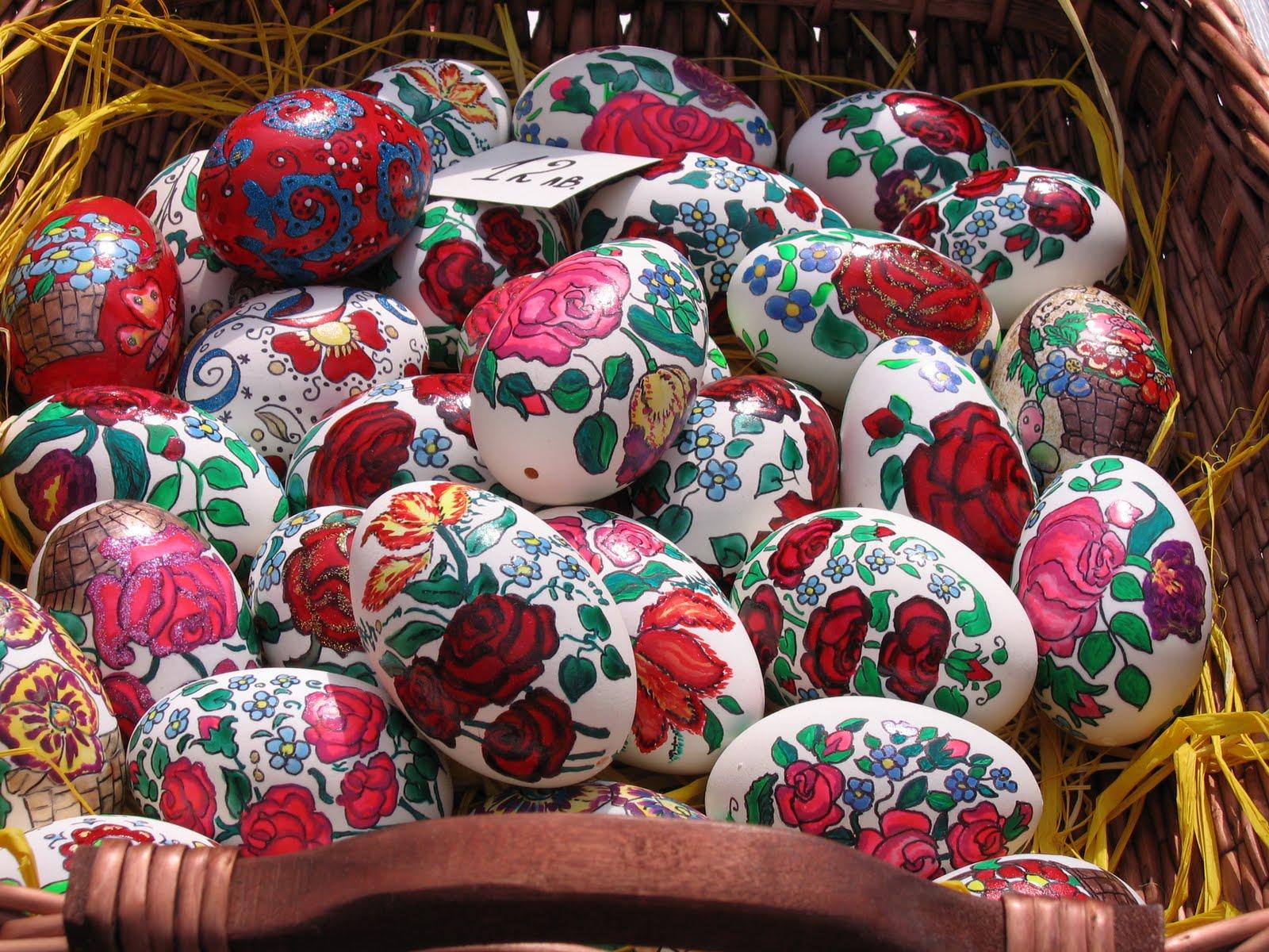 Huevos pintados en Pascua