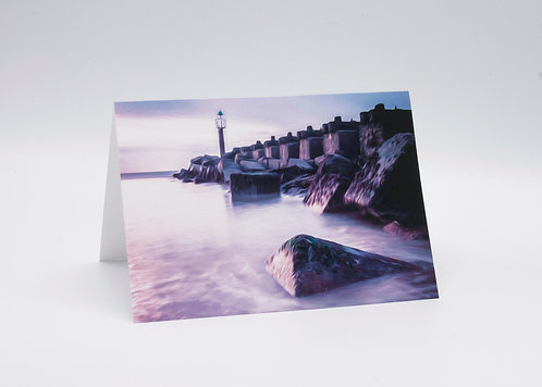 A5 GREETINGS CARD FELIXSTOWE SEASCAPE