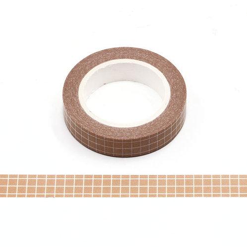 Masking tape grille planner agenda orange  10mm x 10 m