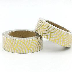 F115- Masking tape Foil vagues japonaises or I Gold japanese waves washi tape fo