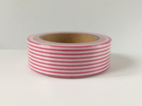 Masking tape rayures rouges et blanches