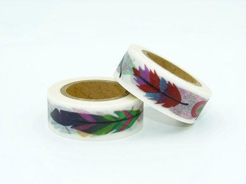 W199 - Masking tape plumes colorées