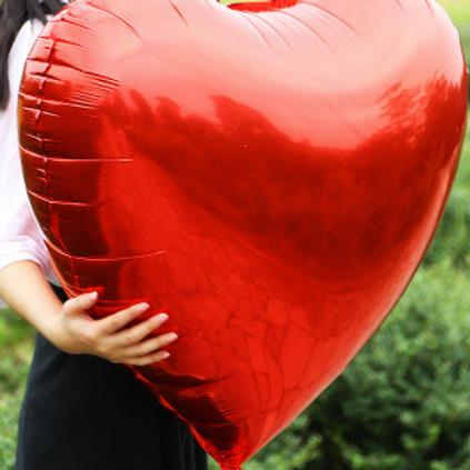 Ballon coeur ROUGE 90 cm  mylar géant fiançailles Saint Valentin