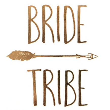 6Tatoo temporaires Team bride et Bride - EVJF mariée