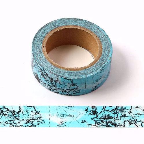 Masking tape bleu carte martitime