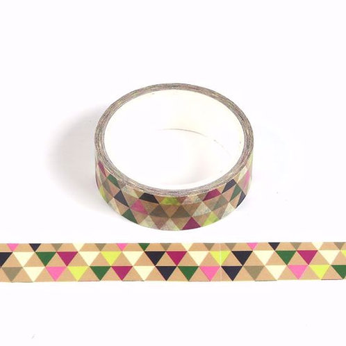 Masking tape triangles colorés 15mm x  5m