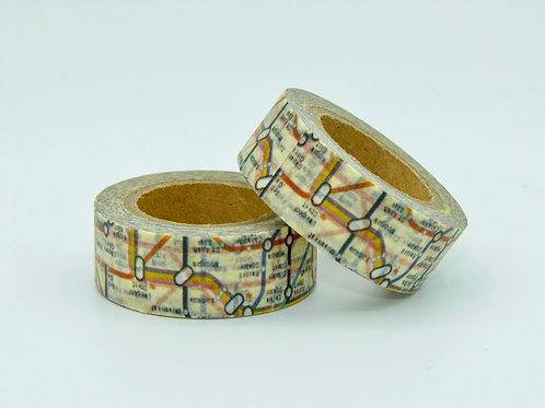 W067 - Masking tape métro Londres