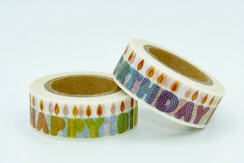 W063 - Masking tape Happy Birthday