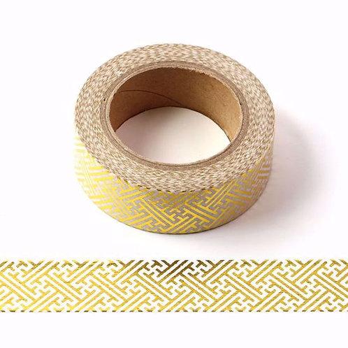 Masking tape métallique  foil or motif marocain