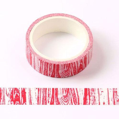 W450 - Masking tape  5m rouge motif bois