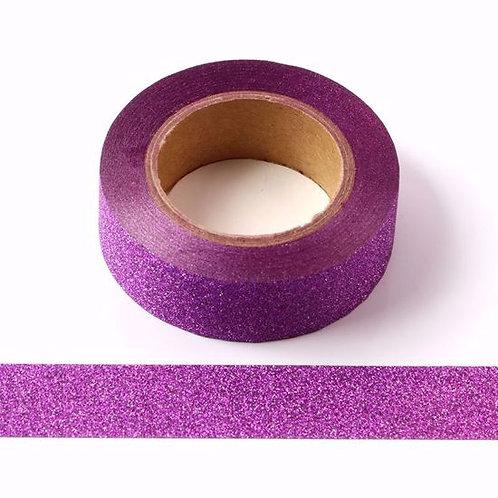 G020 - Masking tape 15 mm Paillettes violettes glitter