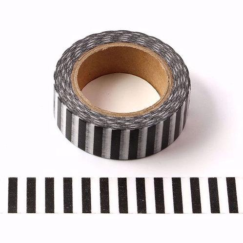 W468 - Masking tape rayures verticales N&B