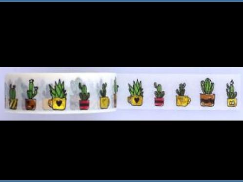 F110-  Masking tape  cactus planner washi tape