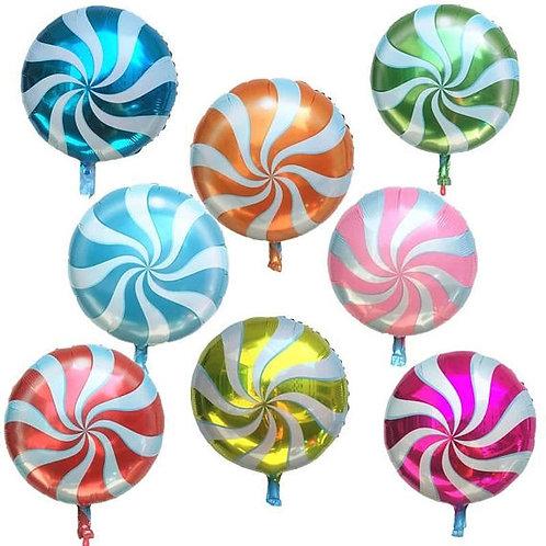 Ballon  rond Candy mylar géant  45 cm décoration fête couleur