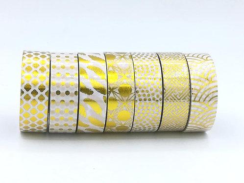 Masking tape Foil plumes pois marocain losanges vagues japonaises I GOld foil