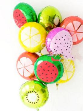 Ballon mylar Fruit 45 cm pastèque citron kiwi goyave orange