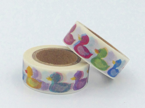 W048-  Masking tape canards colorés design  15mm