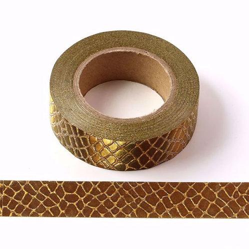 G003 - Paillettes paillettes 15mm glitter croco doré