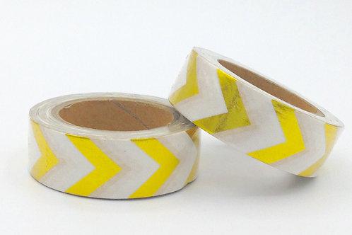 F016 - Masking tape foil chevrons dorés