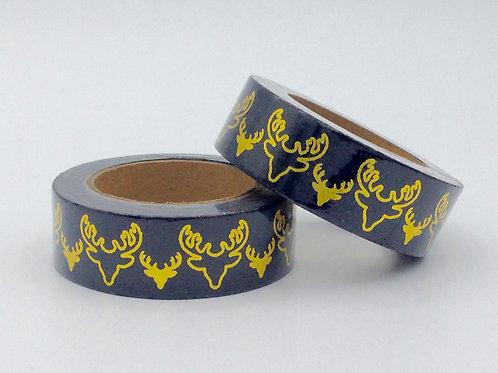 F081- Masking tape foil noir tête de rêne