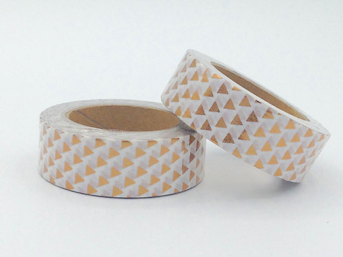 F032 - Masking tape foil triangles cuivre