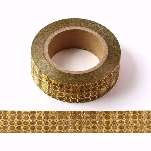 G005 - Masking tape 15mm Paillettes glitter  doré