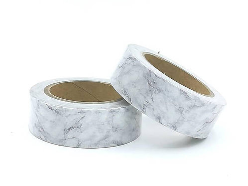 W371 - Masking tape motif marbre gris blanc