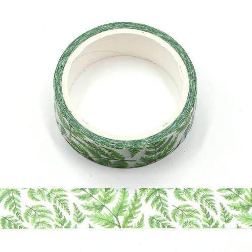 Masking tape feuilles tropicales 15mm x 5m
