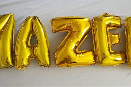 Ballons bannière Mazel Tov Mylar dorée or suspension célébration juive