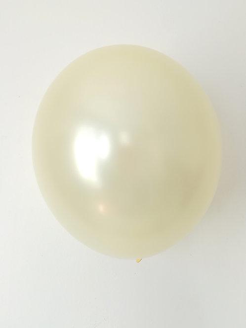 10 ballons latex blanc crème perle 30 cm haute qualité