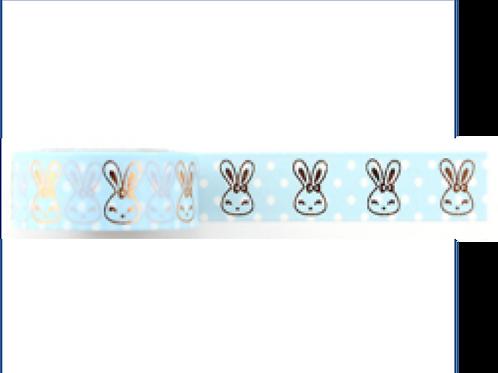 F128 - Masking tape foil bleu clair lapin
