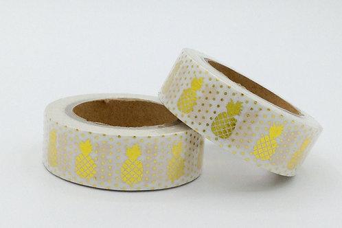 F006 - Masking tape Foil Ananas Dorés