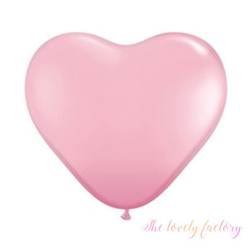 Ballon Coeur latex Géant 90 cm rose